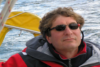 Marco Käller op het water