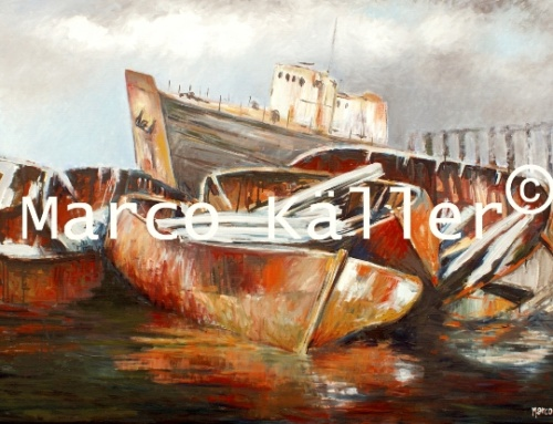 Lifeboats at Arthur Kill  (sold)