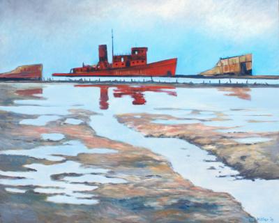 Arthur Kill schilderij Marco Käller