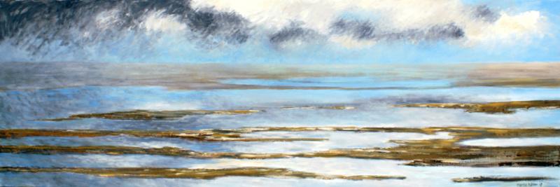 Wad schilderij Marco Käller