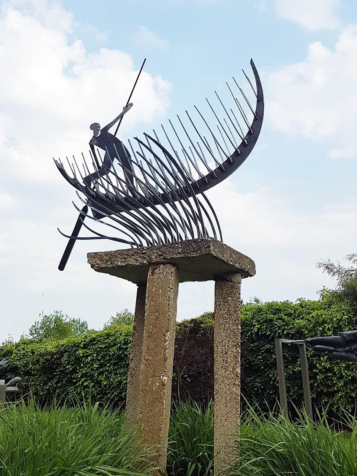reedboat cortensteel sculpture Marco Käller