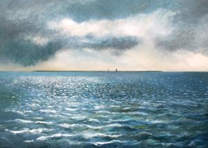 Het wad, Waddenzee, Voor bij het Griend schilderij van Marco Käller