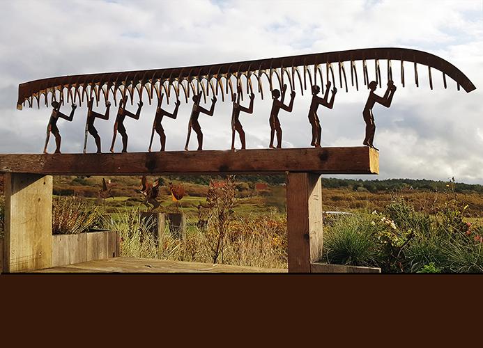 Cortentstaal sculpture Acht