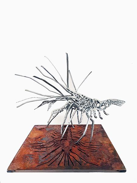 Oergarnaal sculpture