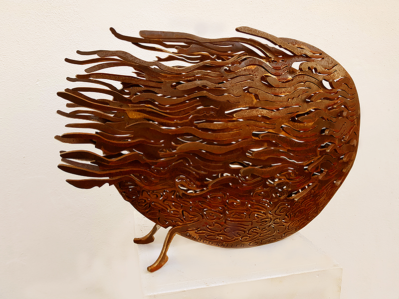 Zeebeest cortentsteel sculpture