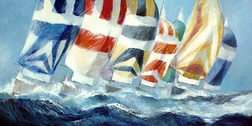 Downwind oil painting