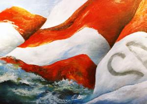 fallingspinnaker oil painting