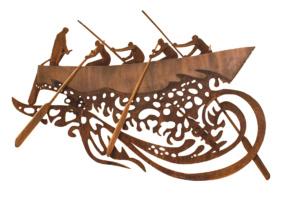 Hangende Sloep sculpture